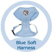 Pale Blue Softy Dog Harness - SMALL